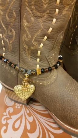 heart boot bracelet