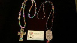 Beautiful Large cross Necklace and Fruits of the Holy Spirit Necklace